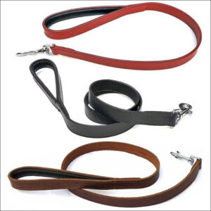 Lined And Padded Leather Leads
